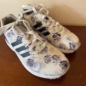 Adidas floral rose sneakers